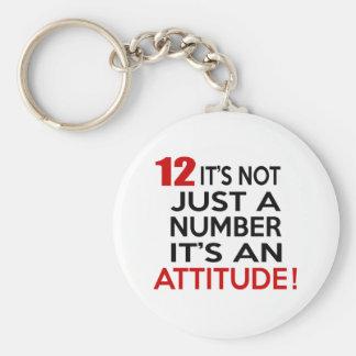 Porte-clés 12 ce n'est pas simplement un nombre que c'est une