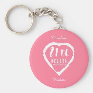 Porte-clés 21ème Iolite traditionnel d'anniversaire de