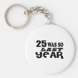 Porte-clés 25 étaient ainsi ainsi l'année dernière les
