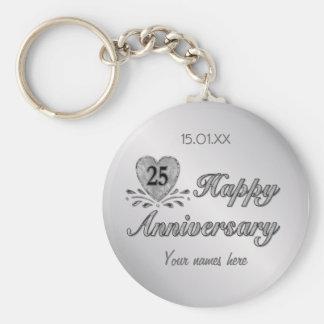 Porte-clés 25ème anniversaire - argent