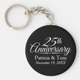 Porte-clés 25ème Anniversaire de mariage personnalisé