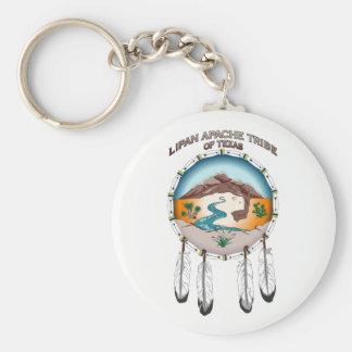 """Porte-clés 2,25"""" porte - clé tribal rond de base de bouclier"""