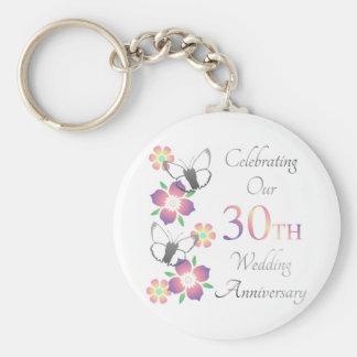 Porte-clés 30ème anniversaire élégant