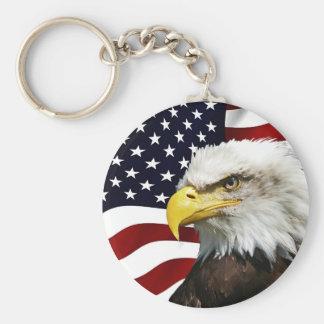Porte-clés 4 juillet patriote moderne d'Eagle d'Américain de