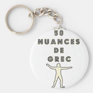 Porte-clés 50 NUANCES DE GREC - Jeux de Mots - Francois Ville