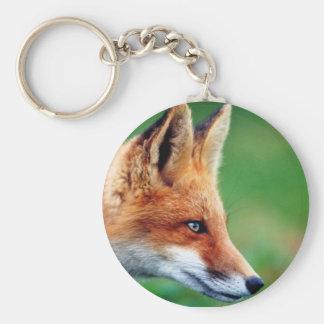 porte-clés 5,7cm rond renard roux