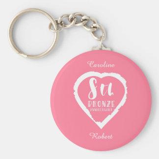 Porte-clés 8ème Huitième anniversaire de mariage