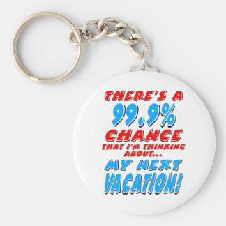 Porte-clés 99,9% Les VACANCES PROCHAINES (noir)