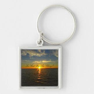Porte-clés À Dieu soyez la gloire ! - Lever de soleil de lac