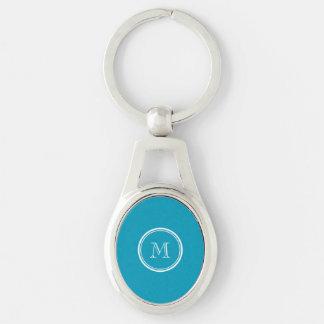 Porte-clés À extrémité élevé turquoise coloré personnalisé