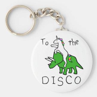 Porte-clés À la disco (Triceratops d'équitation de licorne)
