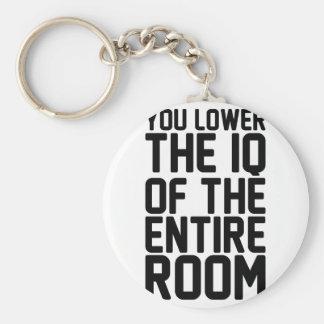 Porte-clés Abaissez le Q.I.