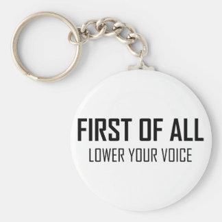 Porte-clés Abaissez votre voix
