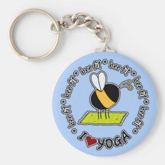 Porte-clés abeille adaptée - porte - clé de yoga