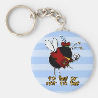 Porte-clés abeille de hameau