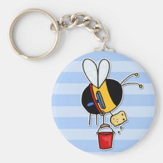 Porte-clés abeille de travailleur - laveur de vitres