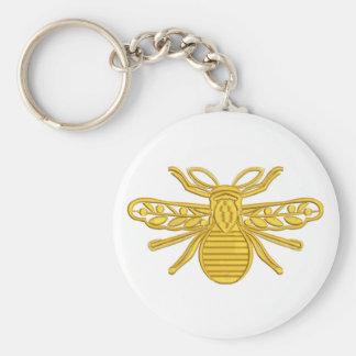 Porte-clés abeille royale, imitation de broderie