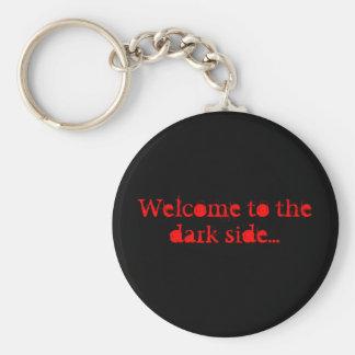 Porte-clés Accueil au côté en noir…