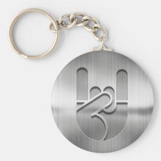 Porte-clés Acier de main de roche