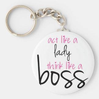 Porte-clés Acte comme Madame Think Like un patron
