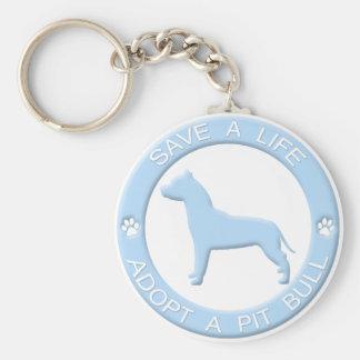 Porte-clés Adoptez un porte - clé de pitbull