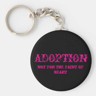 Porte-clés adoption pas pour le faible du rose de porte - clé