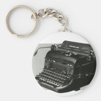 Porte-clés Affaires vintages, machine à écrire antique de