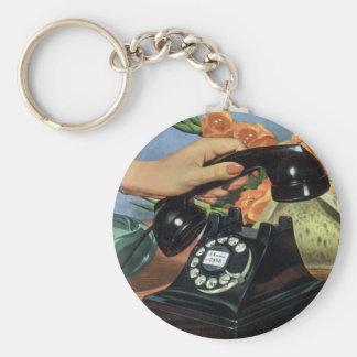 Porte-clés Affaires vintages, téléphone antique avec le