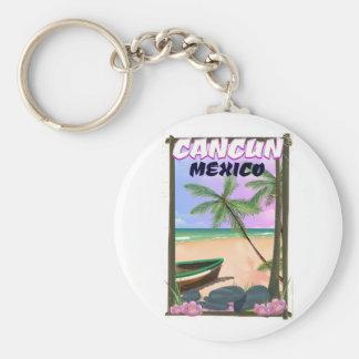 Porte-clés Affiche de plage de Cancun Mexique
