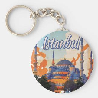 Porte-clés Affiche vintage de voyage d'Istanbul