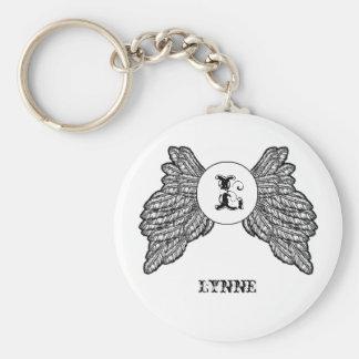 Porte-clés Ailes décorées d'un monogramme personnalisées