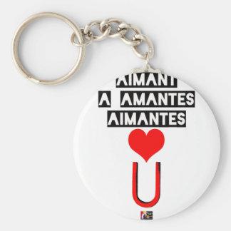 Porte-clés Aimant à amantes aimantes - Jeux de Mots