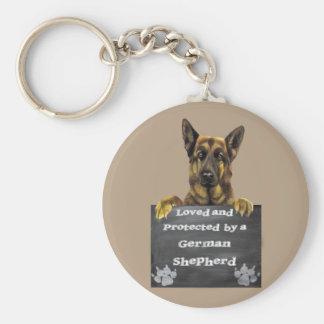 Porte-clés Aimé et protégé par un berger allemand