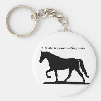 Porte-clés Aimez mon porte - clé de marche de cheval du