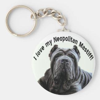 Porte-clés aimez mon porte - clé de mastiff de Neopolitan
