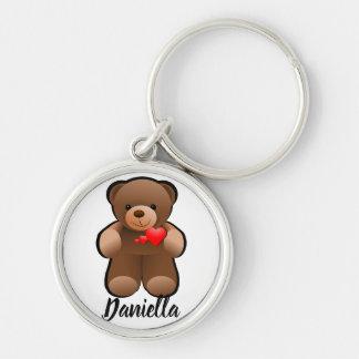 Porte-clés aimez-vous conception d'ours de nounours