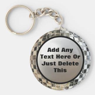 Porte-clés Ajoutez votre porte - clé de boule de miroir de