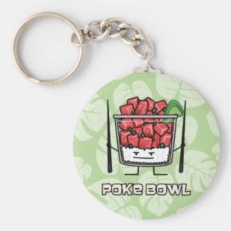 Porte-clés Aku de baguettes de salade de poisson cru d'Hawaï