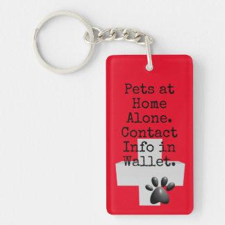 Porte-clés Alerte de contact de GLACE d'animaux familiers