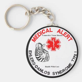 Porte-clés Alerte médicale de type 1 d'EDS avec le porte -