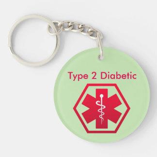 Porte-clés Alerte médicale diabétique
