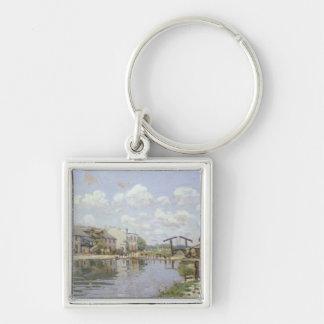 Porte-clés Alfred Sisley | le canal St Martin, Paris