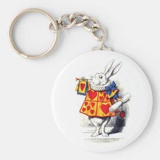 Porte-clés Alice au pays des merveilles le lapin blanc par