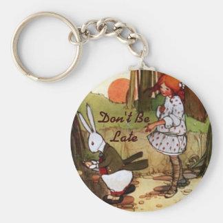 Porte-clés Alice dans le porte - clé blanc vintage de lapin