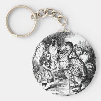 Porte-clés Alice et la dronte