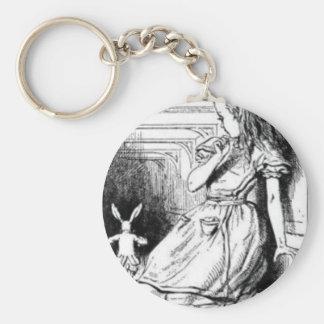 Porte-clés Alice et le lapin blanc