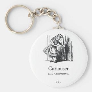 Porte-clés Alice plus curieuse et plus curieuse au pays des