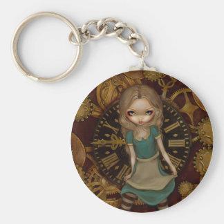 """Porte-clés """"Alice porte - clé dans rouages"""""""