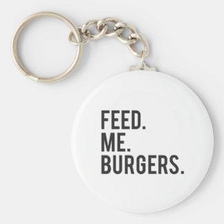 Porte-clés Alimentez-moi la copie d'hamburgers
