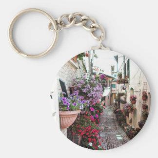 Porte-clés Allées de Windows, de balcon et de fleur dans